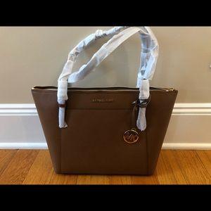 Michael Kors Brand New Brown Leather Ciara Bag